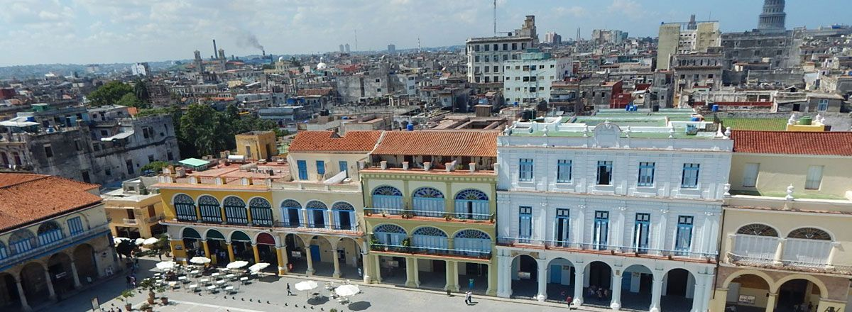 aerial view of old plaza havana
