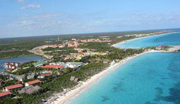 aerial view of cayo coco cuba