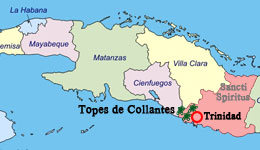 topes de collantes map