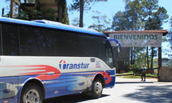Transtur Bus in Topes de Collantes, Trinidad, Cuba