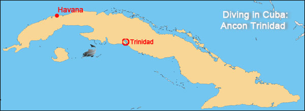 diving in ancon trinidad tour map