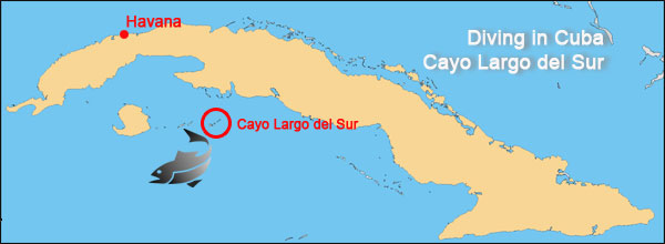 diving cayo largo tour map cuba