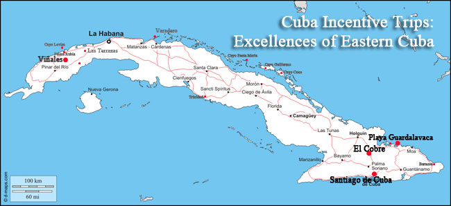 eastern of cuba tour map