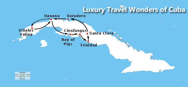 wonders cuba luxury tryp map