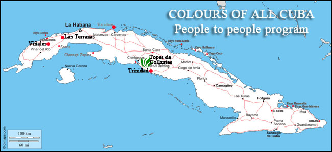 colours havana central tour map