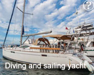 Diving and sailing yacht Cuba